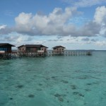 Our jetty - the water villas