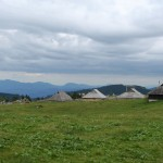 Typical huts in Velika planina