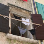 Loundry drying in Rovinij